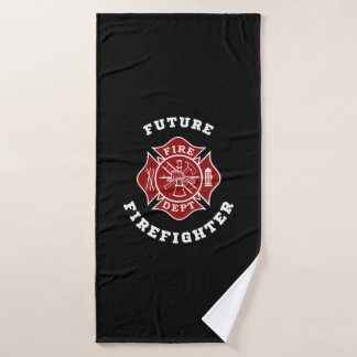 Future Firefighter Bath Towel
