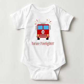 Future Firefighter | Fire Engine Baby Bodysuit