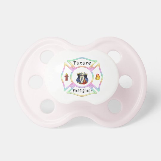 Future Firefighter Pastel Baby Pacifiers