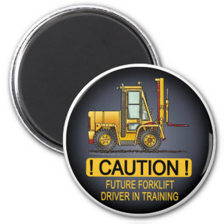 Future Forklift Truck Driver Magnet