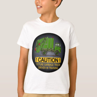 Future Garbage Truck Green Driver Kids T-Shirt