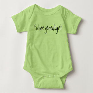 """Future genealogist"" baby one-piece, new baby gift Baby Bodysuit"