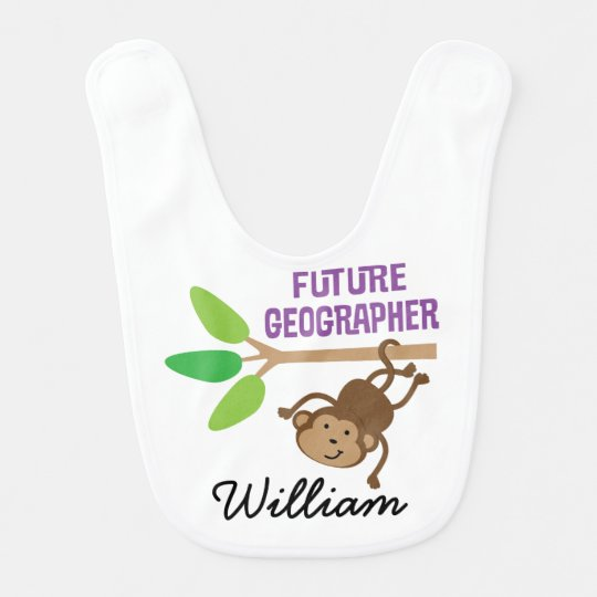 Future Geographer Personalized Baby Bib