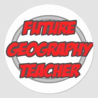 Future Geography Teacher Sticker