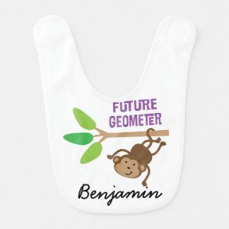 Future Geometer Personalized Baby Bib