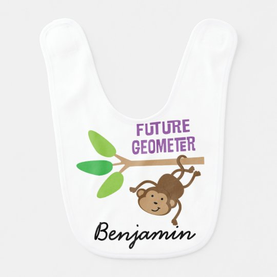 Future Geometer Personalized Baby Bib