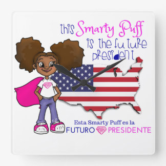 Future Girl  President Bilingual Clock