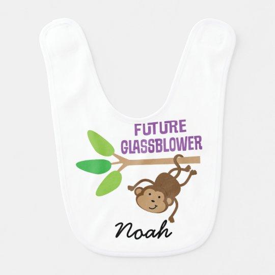 Future Glassblower Personalized Baby Bib