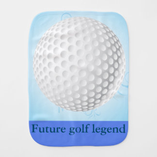 Future golf legend burp cloth