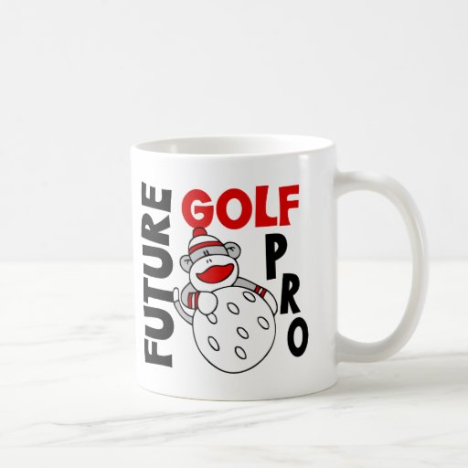 Future Golf Pro Sock Monkey Classic White Coffee Mug