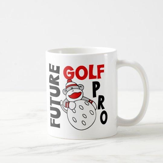 Future Golf Pro Sock Monkey Coffee Mug