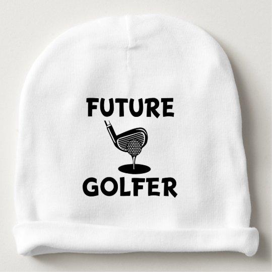 Future Golfer funny baby boy hat Baby Beanie