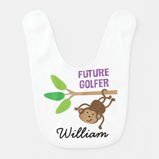 Future Golfer Personalized Baby Bib