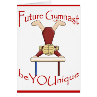 Future Gymnast Greeting Card by BeYOUnique