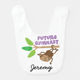 Future Gymnast Personalized Baby Bib