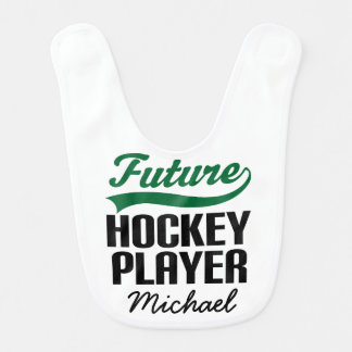 Future Hockey Player Personalized Baby Bib