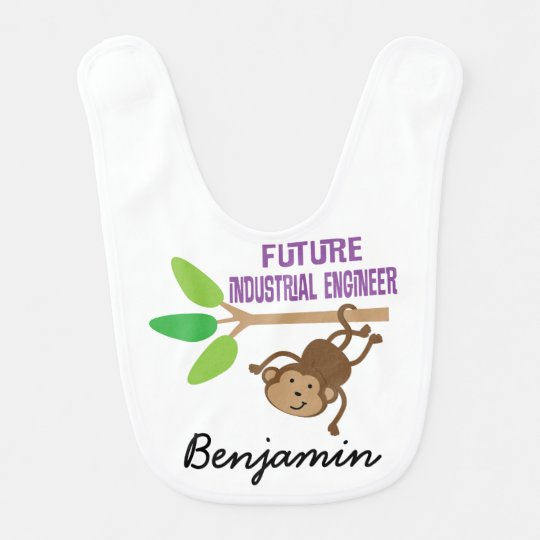 Future Industrial Engineer Personalized Baby Bib
