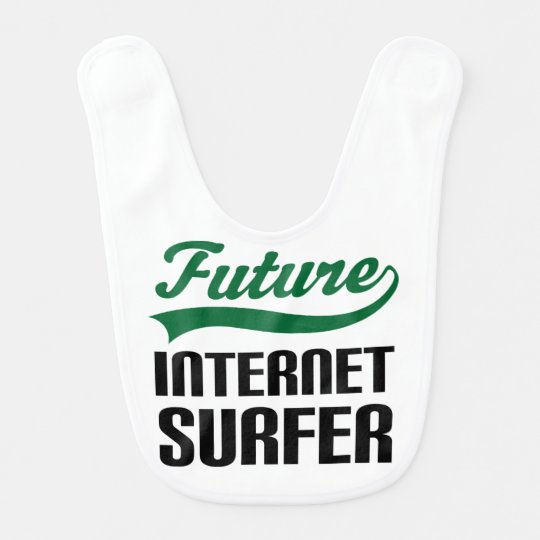 Future Internet Surfer Baby Bib