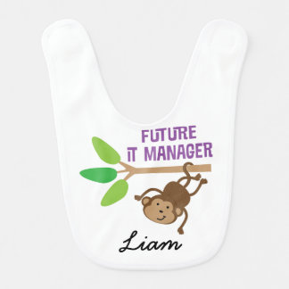 Future IT Manager Personalized Baby Bib