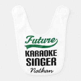 Future Karaoke Singer Personalized Baby Bib