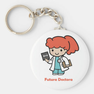 future key ring doctor basic round button keychain