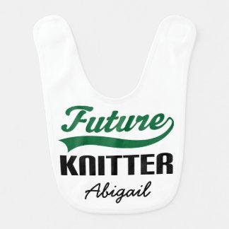 Future Knitter Personalized Baby Bib