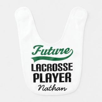 Future Lacrosse Player Personalized Baby Bib
