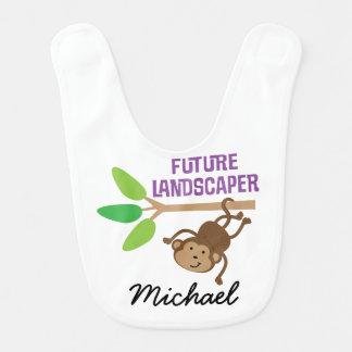 Future Landscaper Personalized Baby Bib