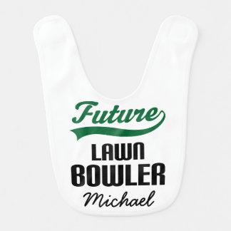 Future Lawn Bowler Personalized Baby Bib
