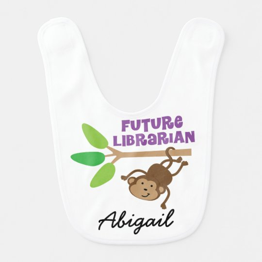 Future Librarian Personalized Baby Bib