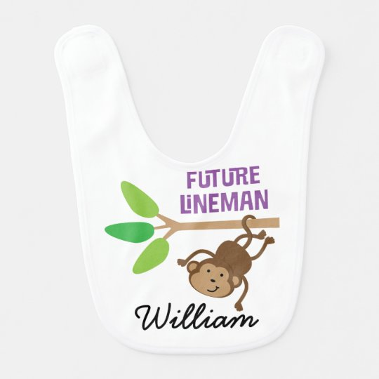 Future Lineman Personalized Baby Bib