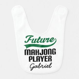 Future Mahjong Player Personalized Baby Bib