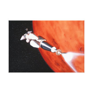 Future Manned Mars Mission in Orbit Canvas Print