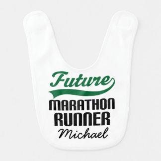 Future Marathon Runner Personalized Baby Bib
