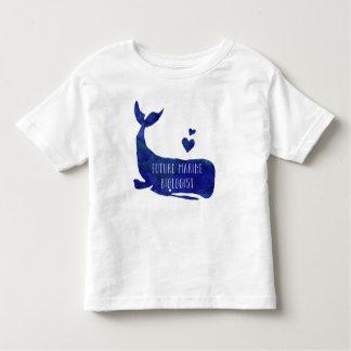 Future Marine Biologist Whale Toddler Boys Shirt