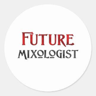 Future Mixologist Round Sticker