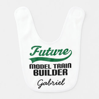 Future Model Train Builder Personalized Baby Bib