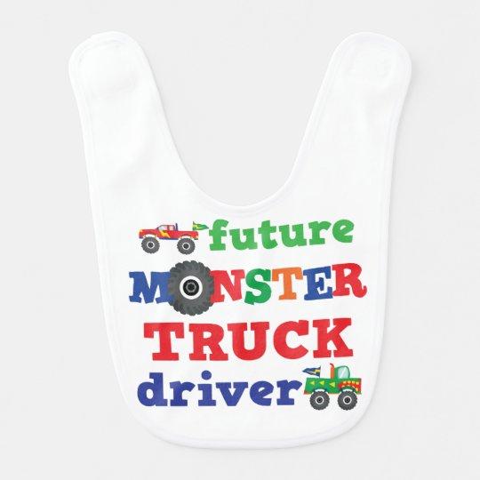 Future Monster Truck Driver Baby Bib