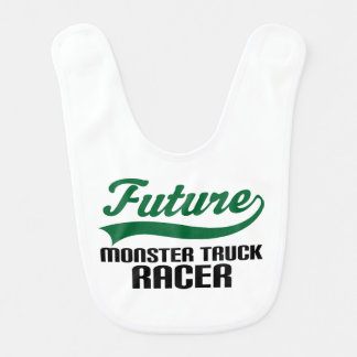 Future Monster Truck Racer Baby Bib