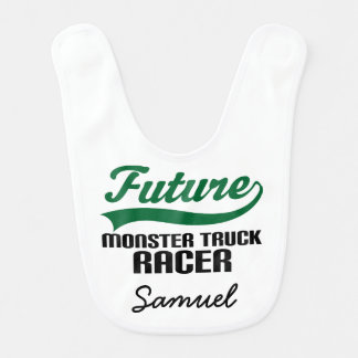 Future Monster Truck Racer Personalized Baby Bib