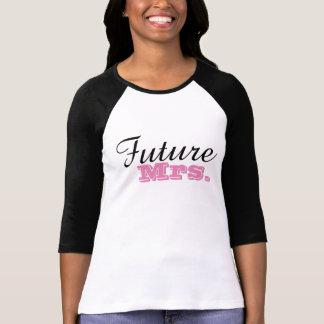 Future Mrs. Bachelorette Party Pink Black T-Shirt