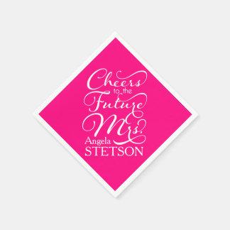 Future Mrs Bridal Shower | Hot Pink Paper Napkins