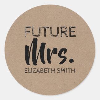 Future Mrs Bride Classic Round Sticker