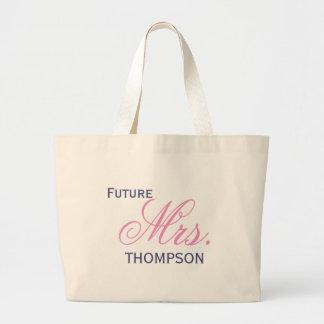 Future Mrs. Customizable Large Tote Bag