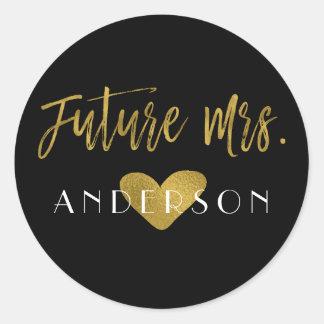 Future Mrs. Gold Foil Bridal Shower Sticker