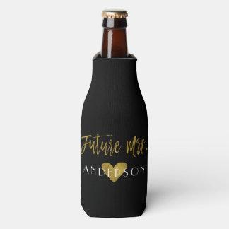 Future Mrs. Gold Foil Bride Bottle Cooler