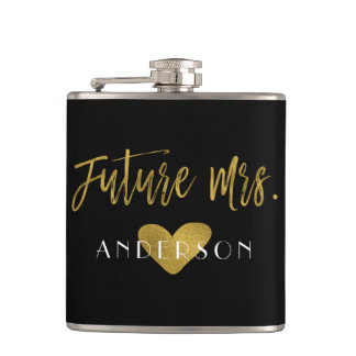 Future Mrs. Gold Foil Bride Flask