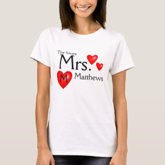 Future Mrs. Name Bride Wedding Shirt