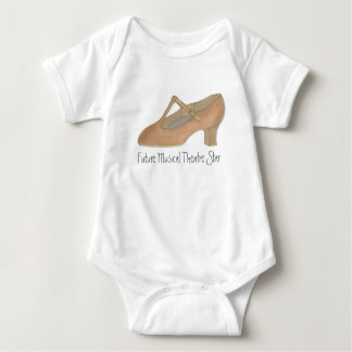 Future Musical Theatre Star Dance Character Shoe Baby Bodysuit