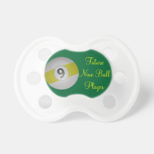 Future Nine Ball Billiard Player Baby Pacifier